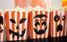 Spooky popcorn boxes