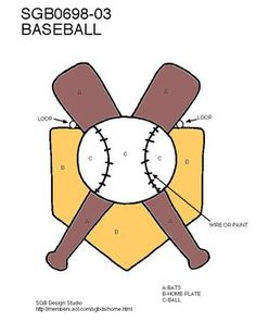 Baseball - home plate, bats, ball