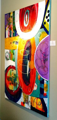 JOY, one of the Abstract Zebra paintings, featured paintings at Art Goggle fall 2014