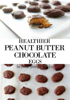 Healthier Homemade Peanut Butter Chocolate Eggs are just as good as the original but are made from REAL food and require just 4 simple ingredients! Peanut Butter Eggs, Homemade Peanut Butter, Healthy Peanut Butter, Homemade Chocolate, Chocolate Peanut Butter, Real Food Recipes, Snack Recipes, Dessert Recipes, Yummy Food