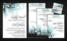 tiffany blue and black weddings | Blue (Aqua) and Black Wedding Invitations | Flickr - Photo Sharing!