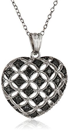 #blackdiamondgem #carbonado Sterling Silver Black Diamond Heart Pendant Necklace (.50 cttw), 18″by Amazon Curated Collection - See more at: http://blackdiamondgemstone.com/jewelry/necklaces/pendants/sterling-silver-black-diamond-heart-pendant-necklace-50-cttw-18-com/#sthash.kLLsvQ6w.dpuf