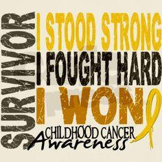 Survivor 4 Childhood Cancer Shirts and Gifts T-Shirt on CafePress.com
