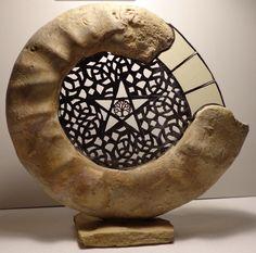 Ammonit Franken Jura Malm Pentagramm Kupferarbeit