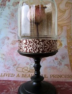 Beauty & The Beast inspired flower cloche.
