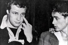 Marlon Brando and James Dean