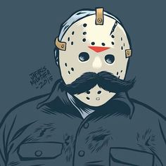 Mr. Friday #Movember #jason #PutAStacheOnIt #friday13th @Sketch_Dailies #adobedraw