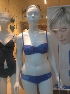 I love this! I wish we had more realistic mannequins to advertise clothing and lingerie with!!!!!