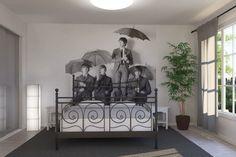 Beatles Umbrella Wall Mural for Bedroom Design