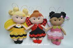 molde boneca joaninha de feltro - Pesquisa Google
