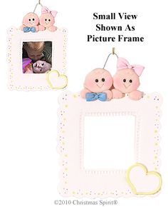 Twins Picture Frame Ornament-Boy and Girl from the Christmas Spirit® Shop in Bar Harbor Maine