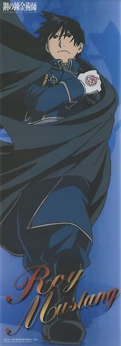 Fullmetal Alchemist plastic poster official Japan Roy Mustang - the amount of badass right here is nearly unbearable.