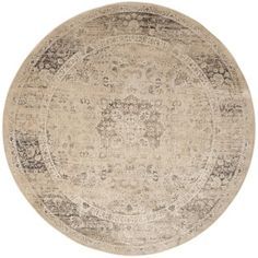Safavieh Vintage Warm Beige Viscose Rug (8' Round) - Free Shipping Today - Overstock.com - 17108144 - Mobile