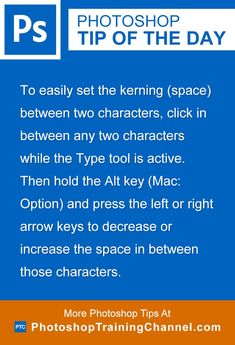To easily set the kerning (space) between two characters, click in between any…