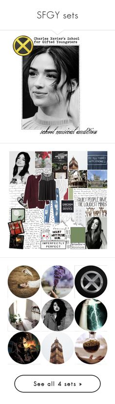 """""""SFGY sets"""" by polystar10 ❤ liked on Polyvore featuring art, GET LOST, WALL, Religion Clothing, Converse, Chicnova Fashion, Monki, H&M, Supersonic and PAM"""