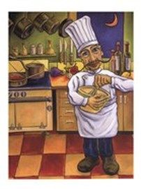 HENRI By Will Rafuse Copy/Reprint on x wood board. Will Rafuse is known for his bright colors and slightly animated twist on the subjects he paints. Wall Prints, Fine Art Prints, Poster Prints, Chefs, Chef Pictures, Food Art For Kids, Tole Painting Patterns, Cafe Art, Kitchen Wall Art