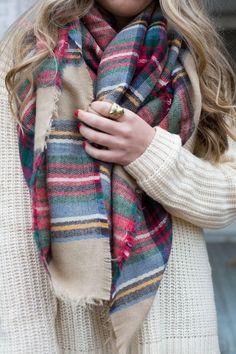 Pretty in Plaid Blanket Scarf - Jess Lea Boutique - 44