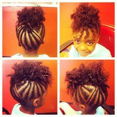 Kids Hairstyles Shared By Karissa Eyez-Ellis Lil Girl Hairstyles, Natural Hairstyles For Kids, Kids Braided Hairstyles, Children Hairstyles, Birthday Hairstyles, Toddler Hairstyles, Homecoming Hairstyles, Fancy Hairstyles, Braided Updo