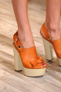 Sonia Rykiel Orange Leather
