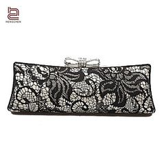 Handcee Best Seller Woman Lace Clutch Box/Elegance Lace Lady Party Bag