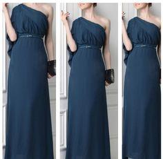 Elegant Sloping Shoulder Sexy Evening Dress, $50