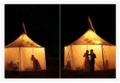 a bunch o tents. one for the cake, and one for food, photobooth, and outside dance floor