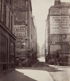 by Charles Marville - rue Saint Jacques 1865/66