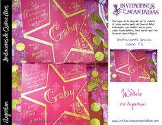 Invitacion con diseño de estrella