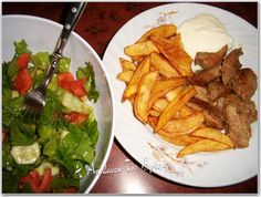 Χοιρινό τηγανιά με πατάτες και χειροποίητη μαγιονέζα με γάλα και άρωμα ρίγανης - Οι πιο νόστιμες συνταγές