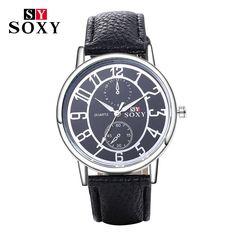 $4.36 (Buy here: https://alitems.com/g/1e8d114494ebda23ff8b16525dc3e8/?i=5&ulp=https%3A%2F%2Fwww.aliexpress.com%2Fitem%2F2016-SOXY-Brand-Watch-Fashion-Leather-Quartz-Watch-Casual-Sport-Watches-Men-Luxury-Wrist-Watches-Hombre%2F32784199664.html ) 2016 SOXY Brand Watch Fashion Leather Quartz Watch Casual Sport Watches Men Luxury Wrist Watches Hombre Clock relogio masculino for just $4.36