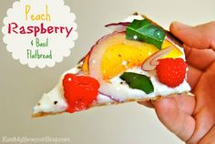Peach Raspberry & Basil Flatbread