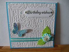 Birthday card blue