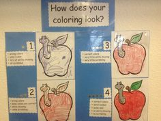 A fun coloring rubric for little kids.