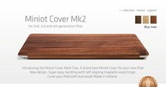Wow, wood iPhone and iPad covers! Miniot Cover Mk2