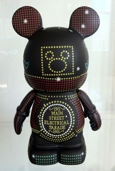 "9"" Main Street Electrical Parade Train Disney Vinylmation Park Series 7 Figure Back"