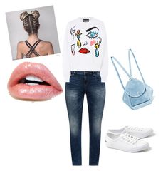 """""""д3"""" by lesya-dodukh on Polyvore featuring JunaRose, Boutique Moschino, Lacoste and MANU Atelier"""
