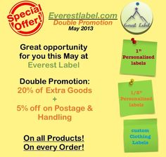 double promo this month at everestlabel.com