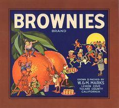 BROWNIES. Orange Label. California (USA)