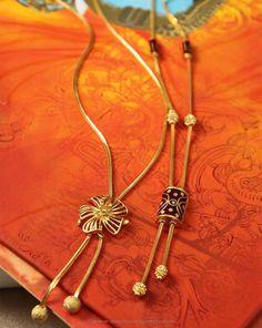 Gold Designer Short Chains, Gold Designer Chains with Fancy Pendant.