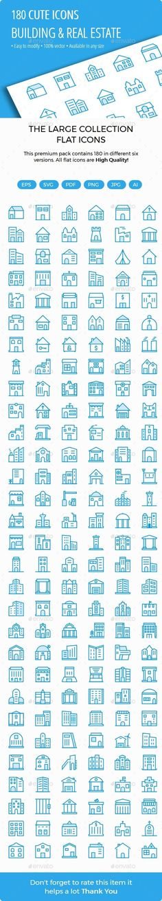 Building and Real Estate Cute Style Icons — Photoshop PSD #school #office • Download ➝ https://graphicriver.net/item/building-and-real-estate-cute-style-icons/20170326?ref=rabosch
