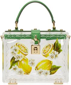 1290a245fbb6 Dolce   Gabbana - Clear Plexi Lemon Box Bag Box Bag