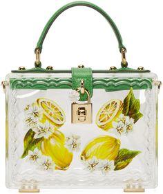 Dolce   Gabbana Clear Plexi Lemon Box Bag Box Bag 99b75b3916950