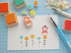 Using stamps to create handmade cards