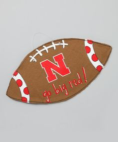 Take a look at this Nebraska Football Burlap Wall Hanging on zulily today!