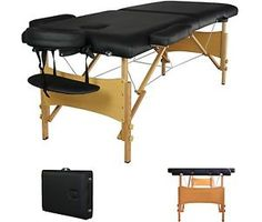 2  Pad 84  Black Portable Massage Table w Free Carry Case Chair Bed Spa Facial T | eBay