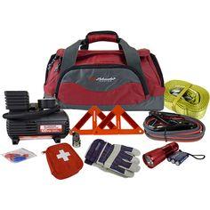 Roadside Emergency Kit via Walmart looks pretty good.