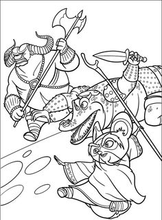 Kung Fu Panda 2 #6 - Pokoloruj ulubioną postać z bajki na ubieranki.eu! http://www.ubieranki.eu/kolorowanki/19/kung-fu-panda-2-_6.html