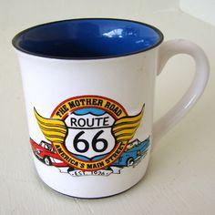 Flower Pot Coffee Mug with Lid Planter Spade Stir Ceramic Blue