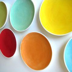 Set of Four Tapas Plates- Choose Your Colors. $32.00, via Etsy.