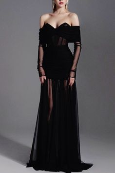 Elegant Dresses, Pretty Dresses, Beautiful Dresses, Look Fashion, Runway Fashion, Couture Fashion, Mode Outfits, Fashion Outfits, High Fashion Dresses